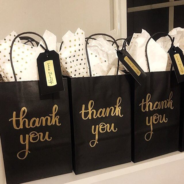 Black and Gold Personalized Wedding Favor Bags A Sweet Thank You Candy Buffet Treat Bags Set of 25 Kraft Paper Bags