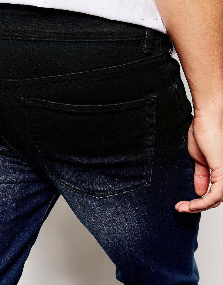 Image 3 ofASOS Super Skinny Jeans With Dip Dye Coating