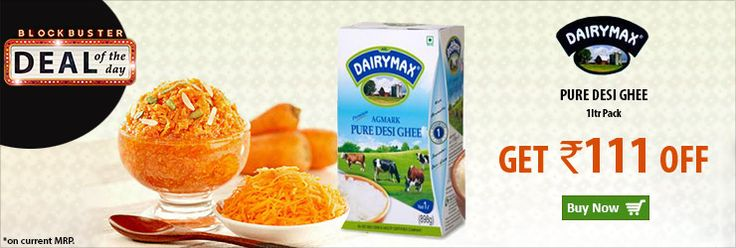 Get Flat Rs 111 Off on DairyMax Pure Desi Ghee 1 Litre