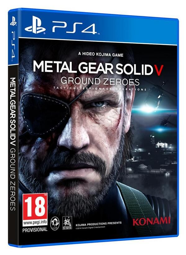 MGS V Ground Zeroes box art - Konami