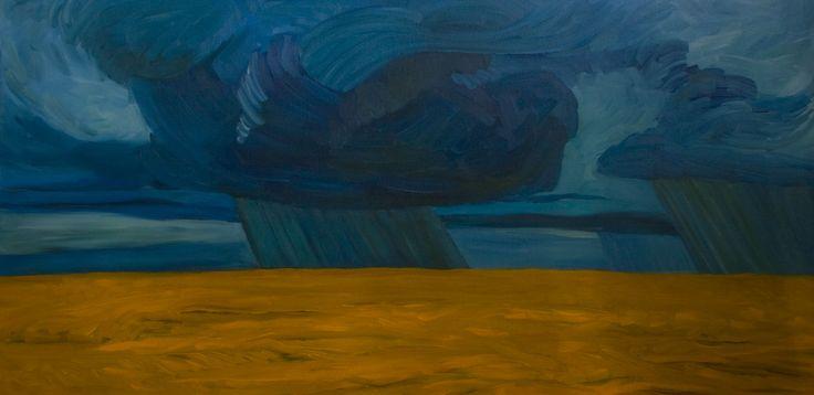 Prairie Storm Oil on canvas
