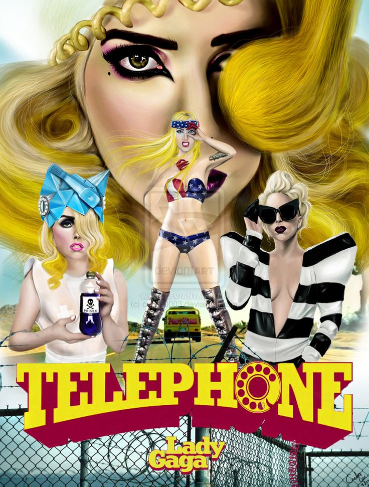 Lady Gaga Telephone art