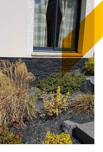 Paneles de imitación de piedra negra para exteriores de MSD
