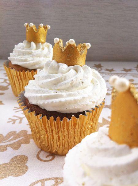 Cupcakes a diario: Cupcakes de fresa y naranja para los Reyes Magos y más roscones para la familia...