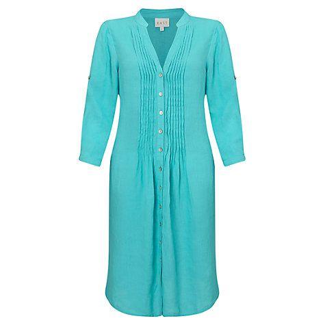 Buy East Pintuck Linen Dress Online at johnlewis.com
