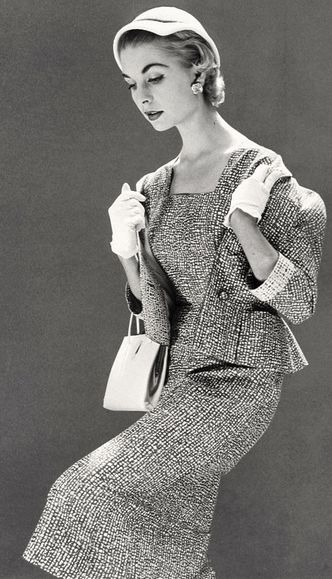 Vogue UK, April 1954 -- Tweed!