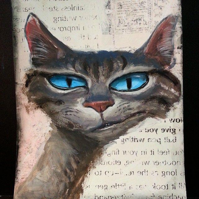 Cat art by Greg Hergert on Instagram.com