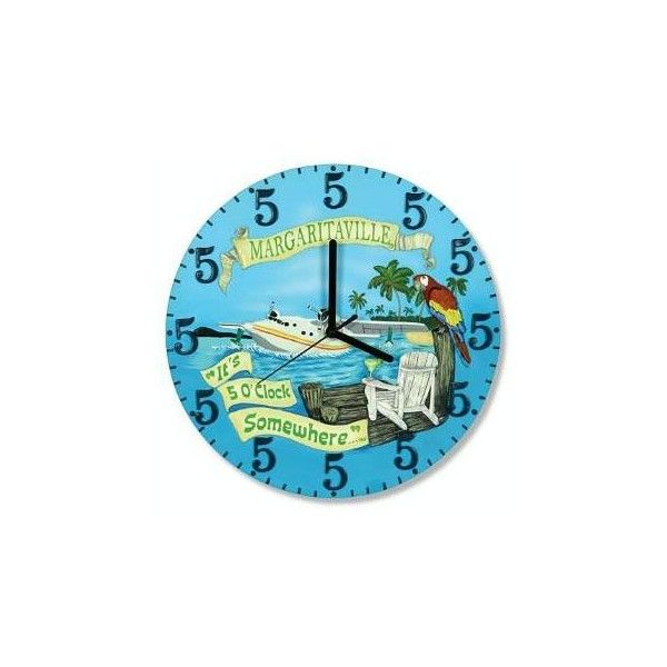 Jimmy Buffett's Margaritaville Store Key West Five O'clock Somewhere Clock found on Polyvore