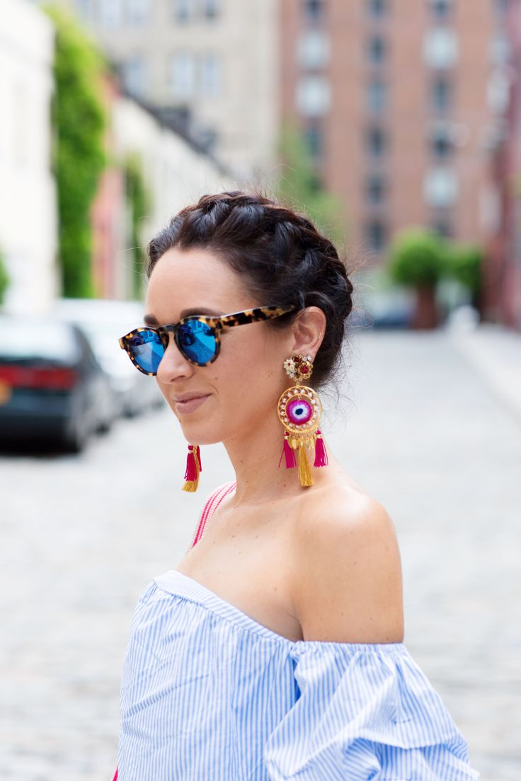 Right now is all about clouds for sleeves and statement earrings…
