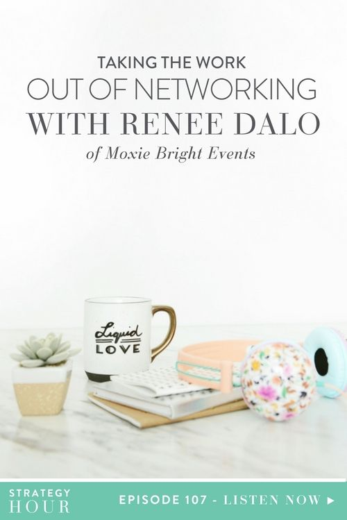 """Today we welcome Renée Dalo of Moxie Bright Events. Renée is a Southern California wedding planner and she is also the leader of the Los Angeles chapter of the Rising Tide Society. Today's episode is all about that icky word, """"networking."""" Renée has really used this practice to build her business from the ground up. To this day, over a decade later, almost 99% of her clients have come from customer or friend referrals. Networking has been vital to the growth of her business and Renée is…"""