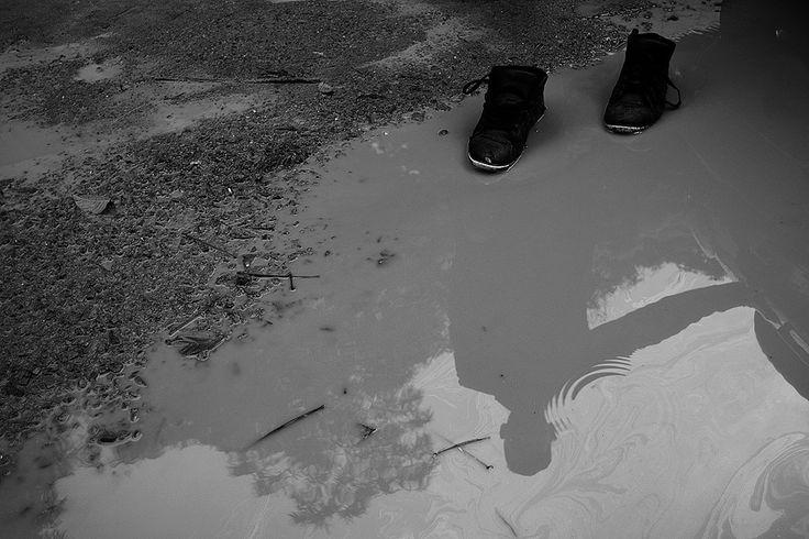 #agua #charco #sombra #silueta