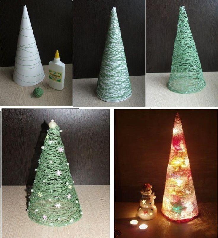 Árbol-navideño-hecho-en-casa