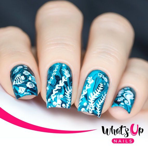 A019 Beach Mode Stamping Plate For Stamped Nail Art Design in 2019 ...