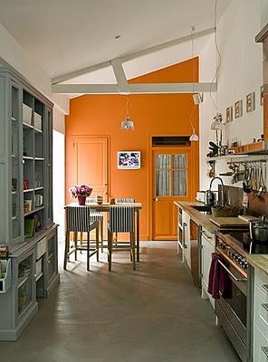 135 best images about color blocking on pinterest for Orange kitchen walls