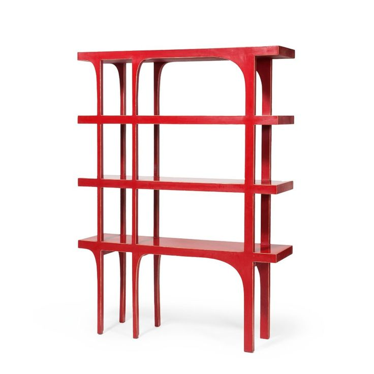Anonymous; Lacquered Wood Shelves by Maison Jansen, c1960.