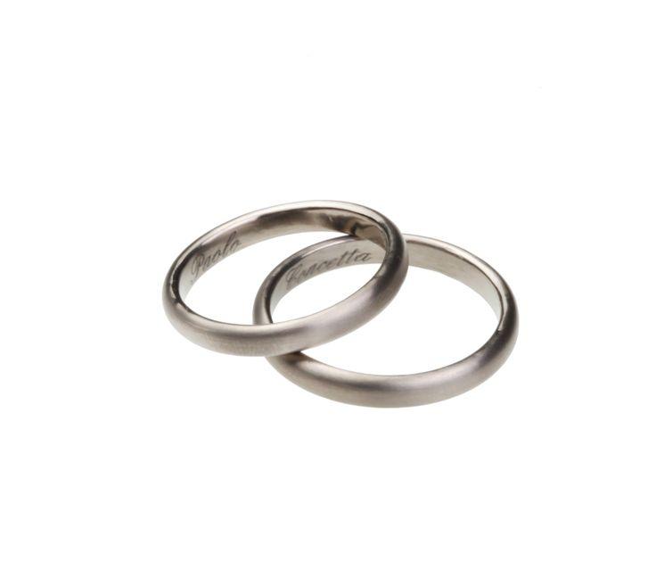 Fedi matrimoniali e anelli di fidanzamento in Titanio e acciaio anallergico realizzati artigianalmente