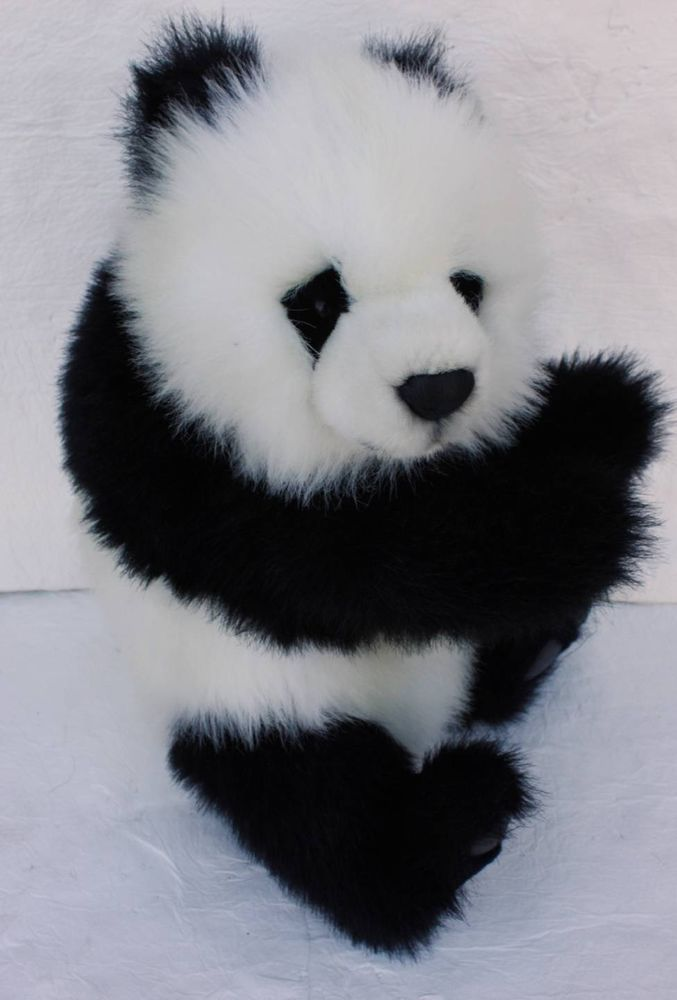Hansa Black White Panda Bear Plush 17 Quot Soft Toy Animal