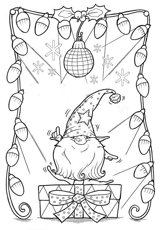 новогодний гном раскраска нашем портале можно