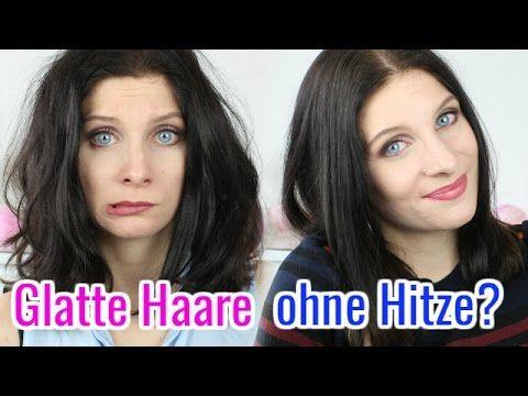 GLATTE HAARE IN WENIGEN MINUTEN OHNE GLÄTTEISEN & HITZE????? WIE GEHT DAS? - YouTube