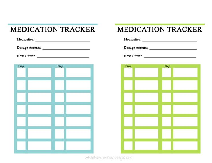 {Free Printable} Medication Trackers