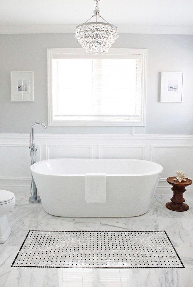 30 Creative Tile Rug Inlay Ideas For Your Bathroom Grey
