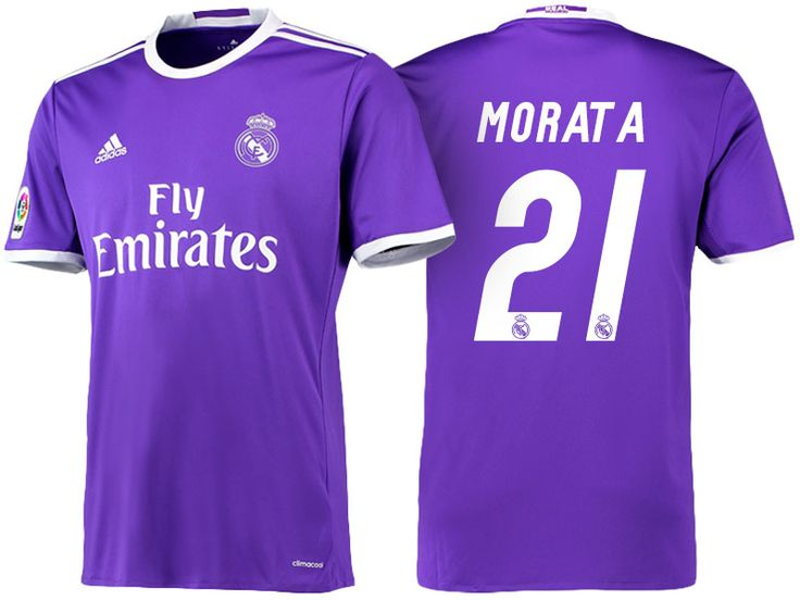 Real Madrid #21 Alvaro Morata 2016-17 Road Jersey