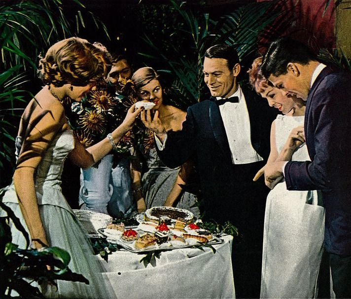 Cocktail Party 50s style. Vintage Lord West men's formal wear ad. | Vintage  Cocktail Party...a Look Back at Mad Men Era Entertaining in 2019 | Cocktail  ...
