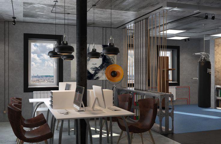 Офис в стиле лофт Office in loft stile