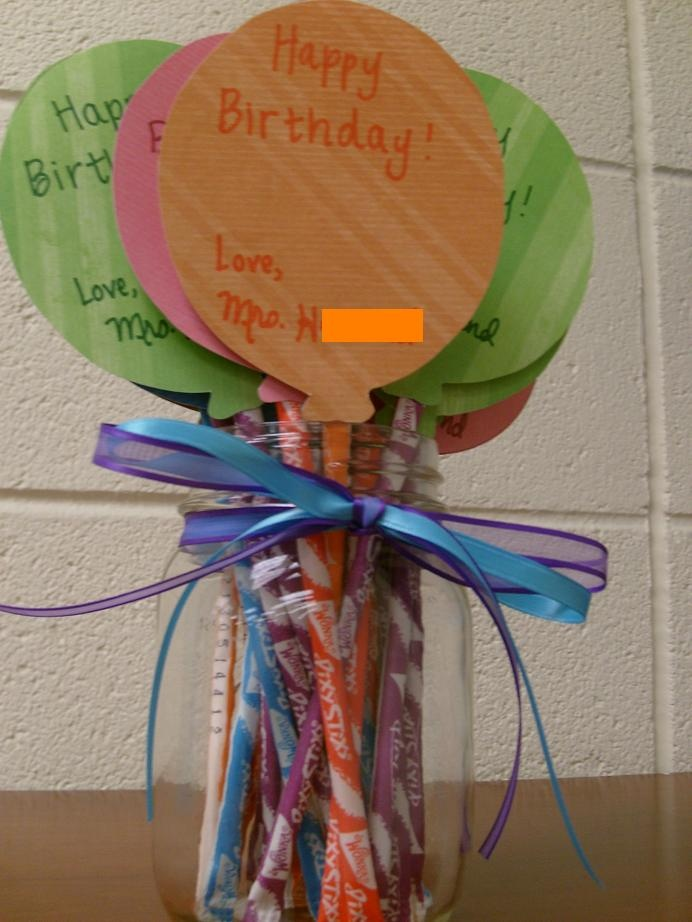 Students birthday treats for the classroom - cost $1 for the whole year