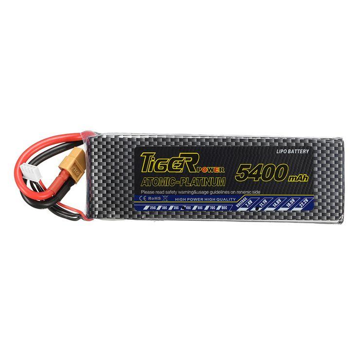 Tiger Power 11,1 V 5400 mAh 45C 3 S Lipo Batterie XT60 Stecker Für RC FPV Racing Kamera-drohne Ersatz teile Zubehör