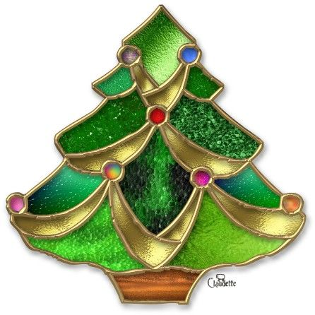 ≈ Christmas Tree Stained Glass ≈
