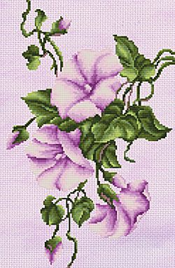Lilac Bindweed Cross Stitch Kit By Luca S