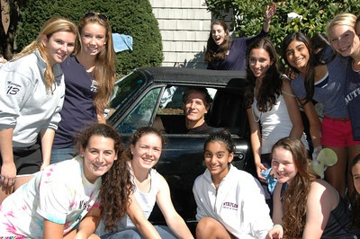 At Staples High School, Westport, Connecticut, USA, supporting a sponsored car wash on Sunday, 23rd September, 2012.