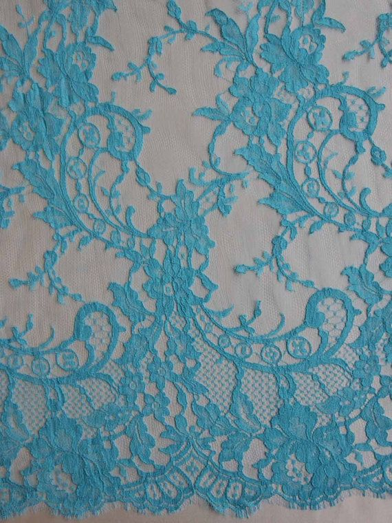1 YARD of KATE Chantilly French Colored Lace in by allysonjames
