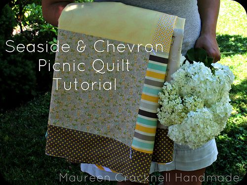Riley Blake Designs Blog: Project Design Team Wednesday~ Seaside and Chevron Picnic Quilt: Projects Design, Design Team, Blake Design, Picnics Quilts A, Blog Articles, Chevron Picnics, Projects Ideas, Design Blogs, Quilts Tutorials