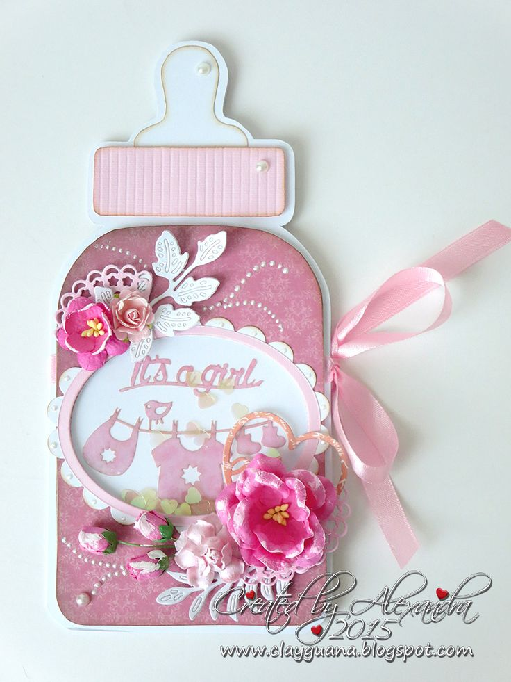 *ClayGuana: Baby Bottle Card - GDT for Noor Design UK