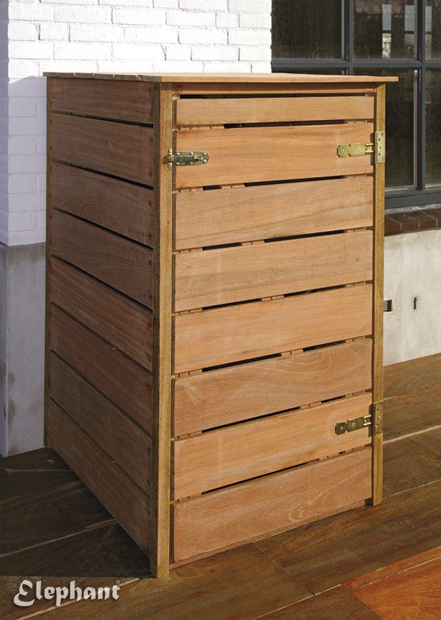 Kliko omkasting / containerbox hardhout | Jansen Sierbestrating