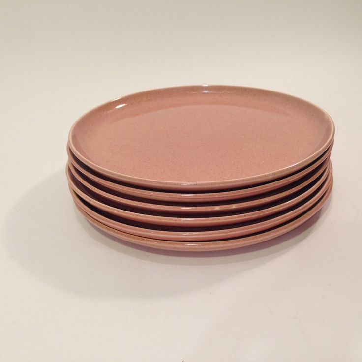 New to MammothMisc on Etsy: Russel Wright Pink Dinner Plates  Set of Six Russel Wright Plates  Pink Dinner Plates  Mid-Century Dinner Plates  Russel Wright Pottery (10.00 USD)