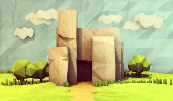 Low-Poly [Non-Isometric] by Timothy J. Reynolds, via Behance