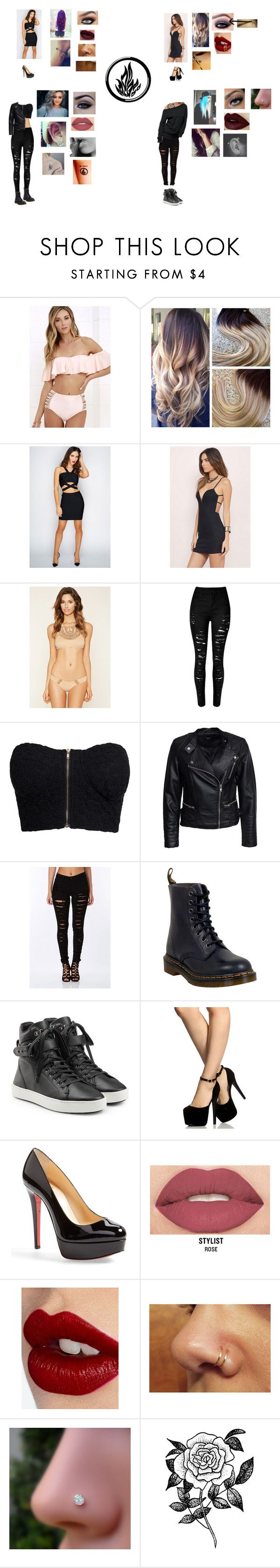 """""""Dauntless Outfits"""" by swag67 ❤ liked on Polyvore featuring O'Neill, Tobi, Forever 21, NLY Trend, Sisters Point, Dr. Martens, rag & bone, Christian Louboutin, Smashbox and Charlotte Tilbury"""