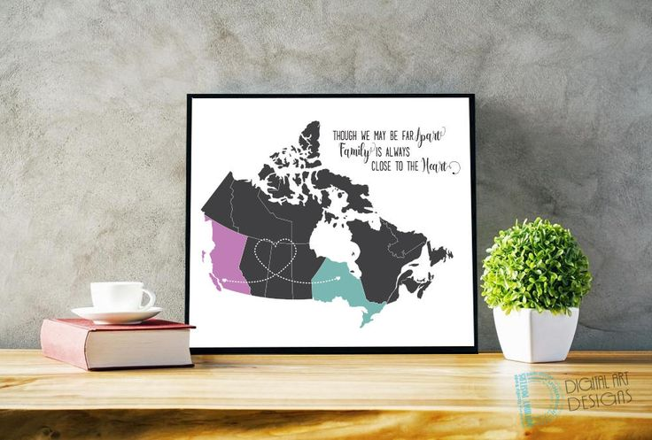 Long Distance Family - Long Distance Boyfriend Gift - Best Friends Gift - Miles Apart Gift - Long Distance Gift - Moving Gift - Goodbye Gift by DigitalArtDesignsByB on Etsy