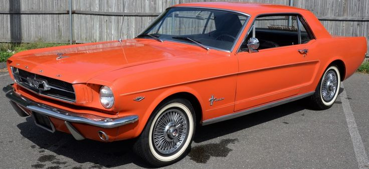 1965 Ford Mustang  289 V8 coupe, factory original, one owner car with 46,093 miles, red with black interior, garaged life ~ realized price $15,000.00  #nadeausauction