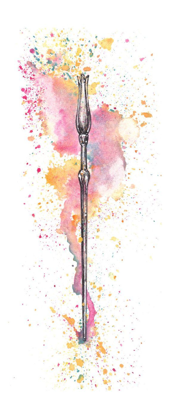 luna lovegood wand art print in 2019 products luna