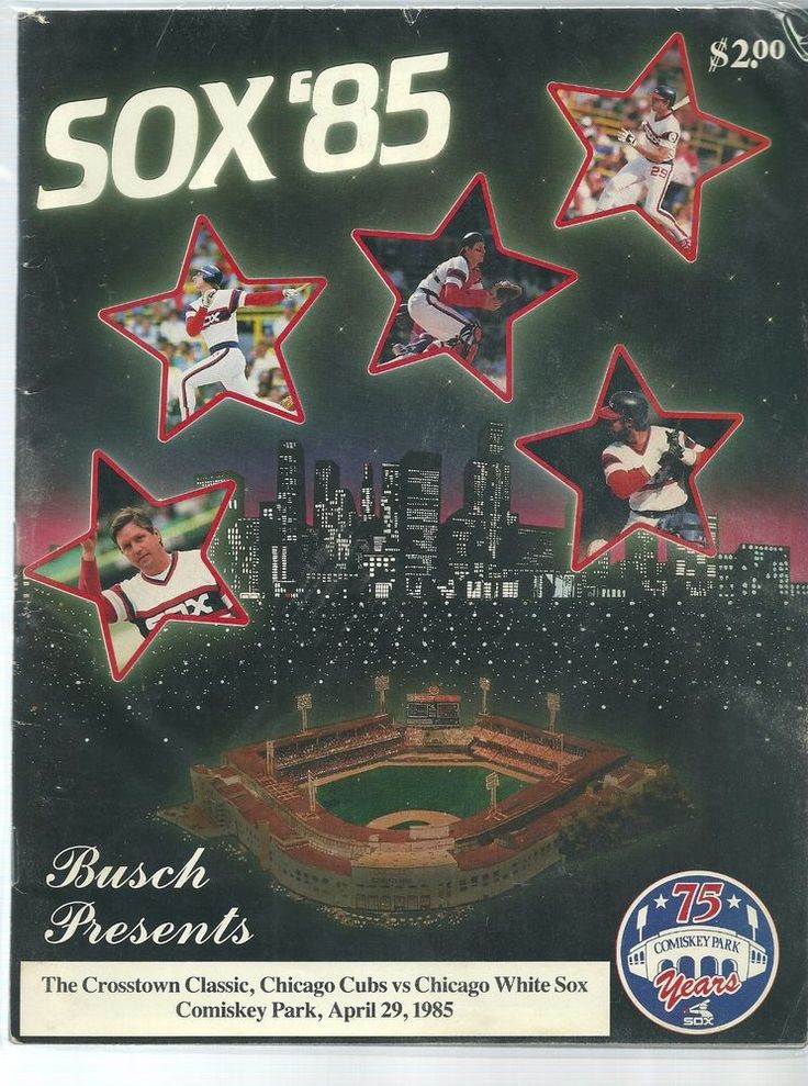 1985 Crosstown Classic Program Chicago White Sox host the Cubs #ChicagoWhiteSox
