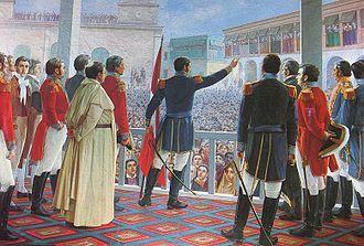 La independencia del Perú  Un poco de historia…  El Ejército Libertador del Perú zarpó del Puerto de Valparaíso el 20 de agosto de 1820. Después de 18 días de navegación, iniciaron el desembarco en la bahía de Paracas. Posteriormente, ocuparon Pisco, Chincha y otras haciendas inmediatas. El 15 de julio de 1821 Don José de San Martín ocupó Lima y, una vez ahí instalado, invitó al Cabildo a jurar la independencia.