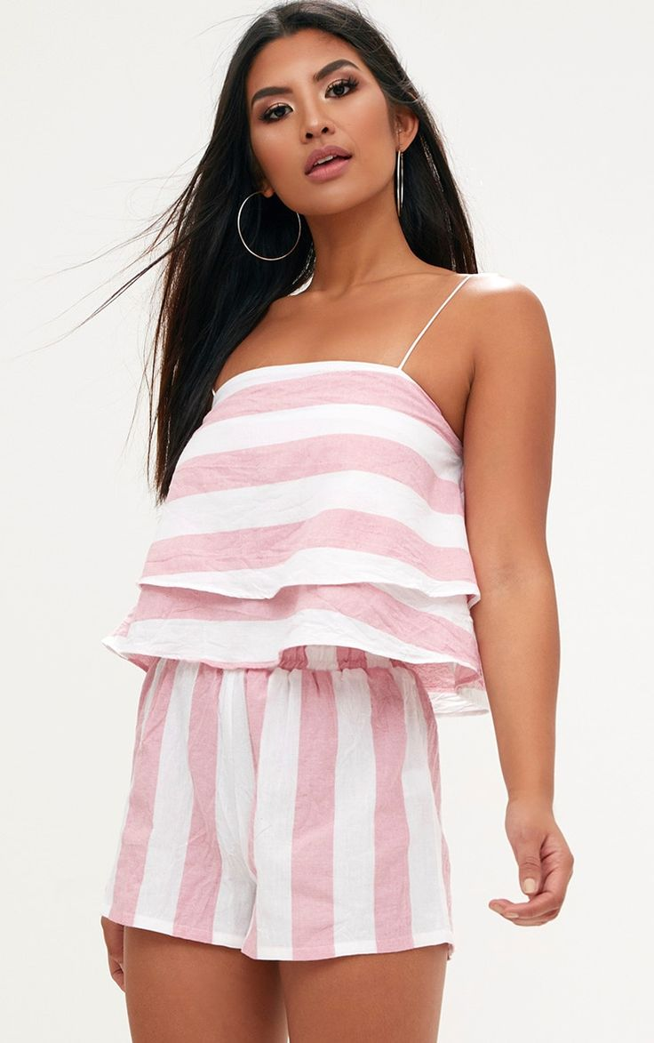 PINK BOLD STRIPE BEACH SHORTS £12.00