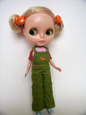overalls free blythe pattern (also fits Skipper or 25 cm Obitsu)