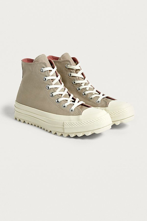 Beige Top All Converse Chuck Ripple Trainers Taylor Lift Star High q7wPH47