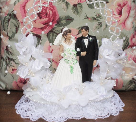 Wedding Cake Topper, Bride and Groom, Wilton Cake Topper, Vintage Wedding Decor, Cake Centerpiece