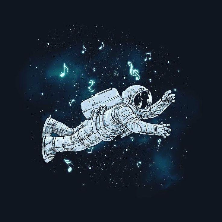 Картинки с космонавтом арт, день ангела картинки